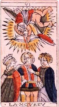 carte tarot de marseille l'amoureux