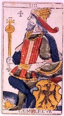 carte de l'empereur au tarot