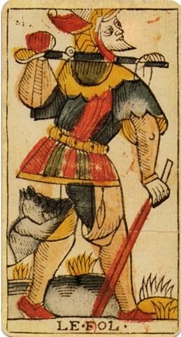 Le fou au tarot divinatoire
