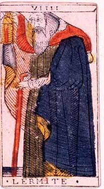 carte de l'hermite au tarot divinatoire