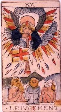 carte du jugement au tarot divinatoire