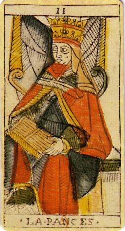 carte tarot de marseille la papesse