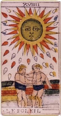 carte du soleil au tarot divinatoire