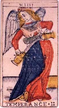 carte de la tempérance au tarot divinatoire